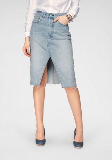 Levi's® Jeansrock »Deconstructed Midi Skirt« mit Schlitz vorne