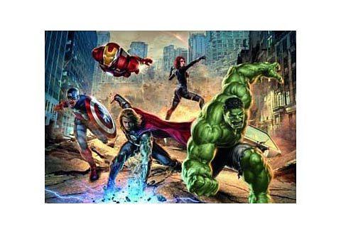 Fototapete, Komar, »Avengers Street Rage«, 368/254 cm