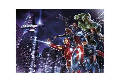 Fototapete, Komar, »Avengers Citynight«, 254/184 cm