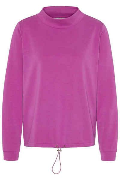 bugatti Sweatshirt mit kurzem Stehkragen