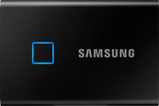 Samsung »Portable SSD T7 Touch 1TB« externe SSD (1 TB) 1050 MB/S Lesegeschwindigkeit, 1000 MB/S Schreibgeschwindigkeit)