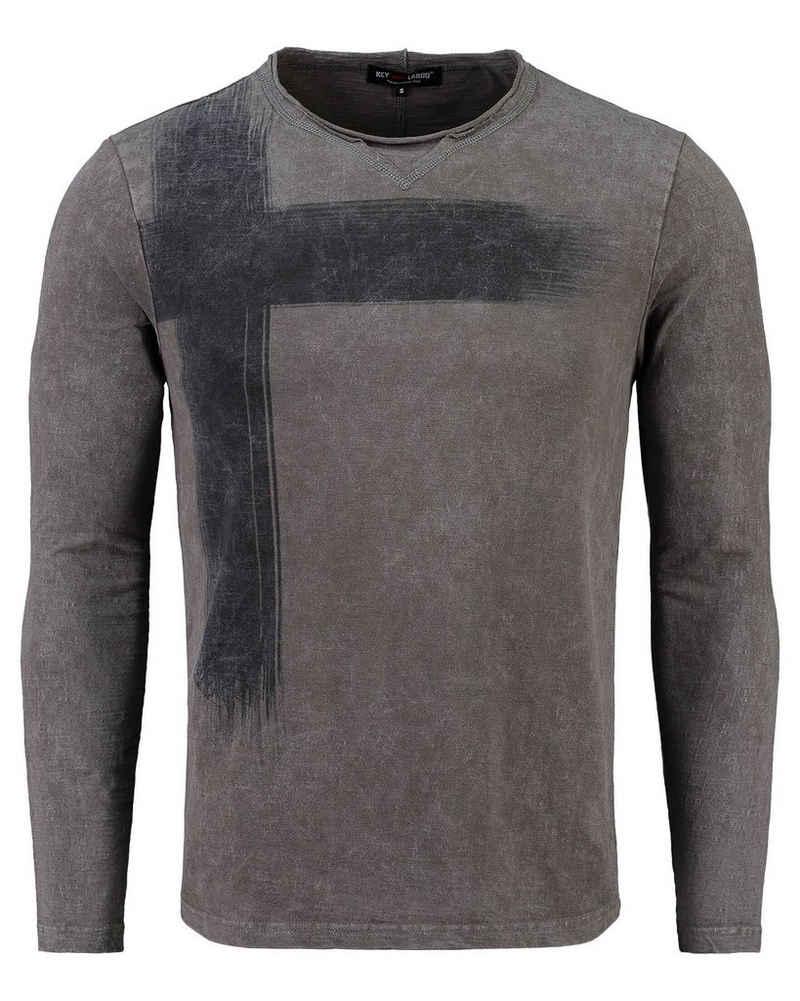 Key Largo T-Shirt »Herren Shirt MLS BOB Langarm«