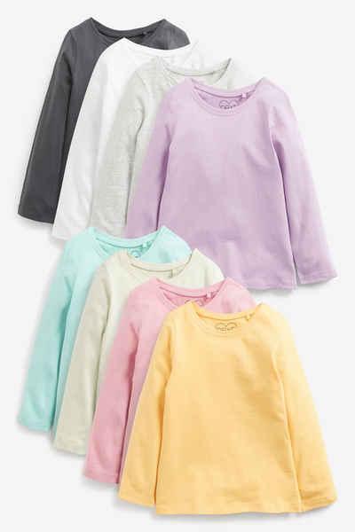 Next T-Shirt »Langärmelige Shirts aus Baumwolle, 8er-Pack« (8-tlg)