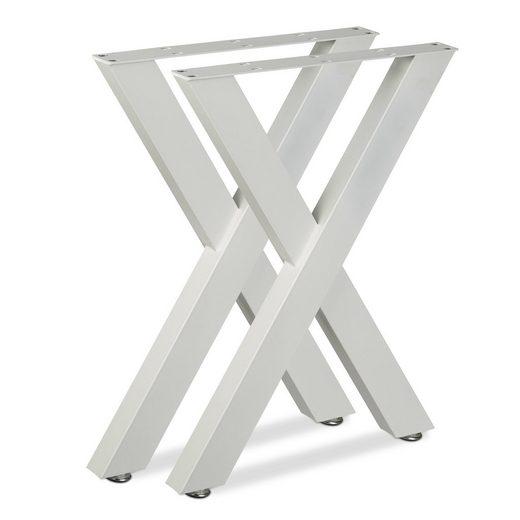 relaxdays Tischbein »Tischbeine 2er Set X-Form«