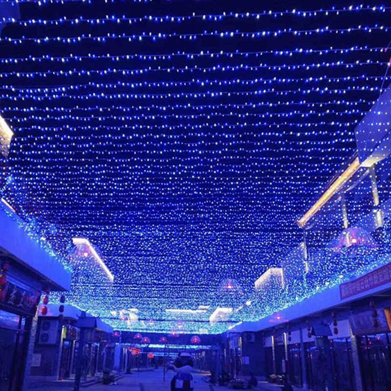 Rosnek LED-Lichterkette »100-2000 LED 10-100M Lichterkette Beleuchtung, Blau, Außen Weihnachten Party«