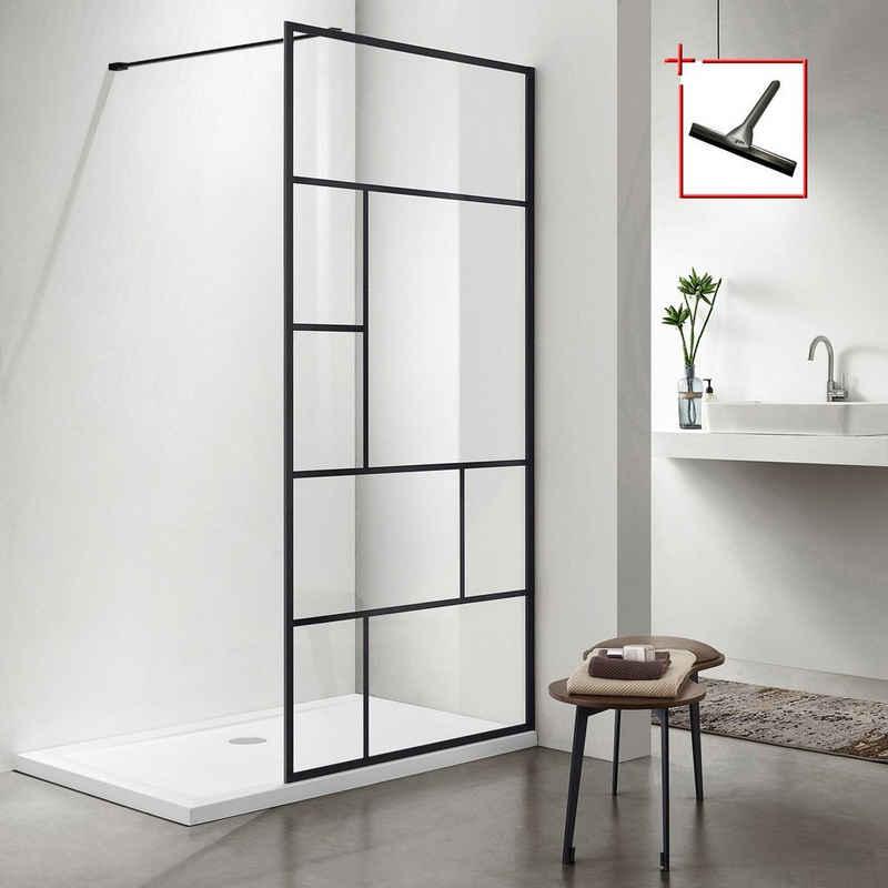 welltime Walk-in-Dusche »Duschabtrennung«, Sicherheitsglas, erhältlich in 3 verschiedenen Breiten 80cm, 90cm & 100cm