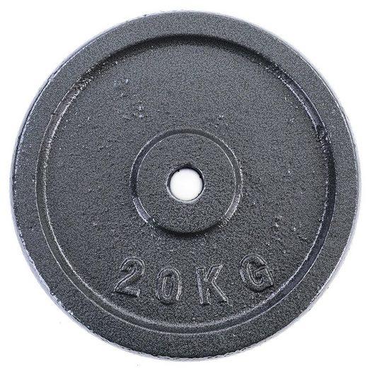 RAMROXX Hantelscheibe »20 kg Hantelscheibe Gusseisen Hantel Gewicht versiegelt 30mm«, 20,00 kg, Material: Gusseisen