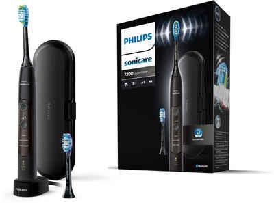 Philips Sonicare Elektrische Zahnbürste ExpertClean 7300 HX9601/02, Aufsteckbürsten: 2 St., mit Schalltechnologie