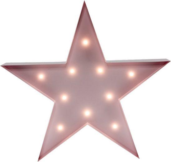 MARQUEE LIGHTS LED Dekolicht »Stern«, Wandlampe, Tischlampe Star mit 10 festverbauten LEDs - 31cm Breit und 31cm hoch