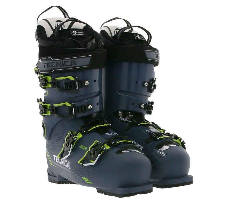 TECNICA »TECNICA Mach1 HV 100 X Touren-Schuhe sportliche Herren Ski-Stiefel Wintersport Dunkelblau/Gelb« Skischuh