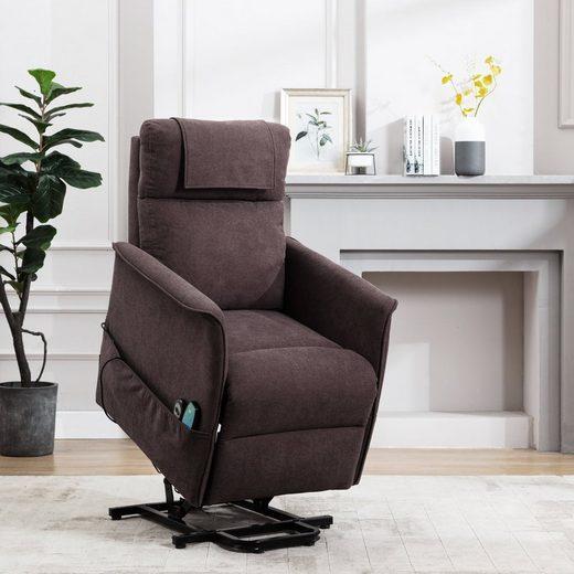 HomeGuru Relaxsessel »Elektrisch Aufstehhilfe Relaxsessel mit Massagefunktion, Heizfunktion, Liegefunktion«