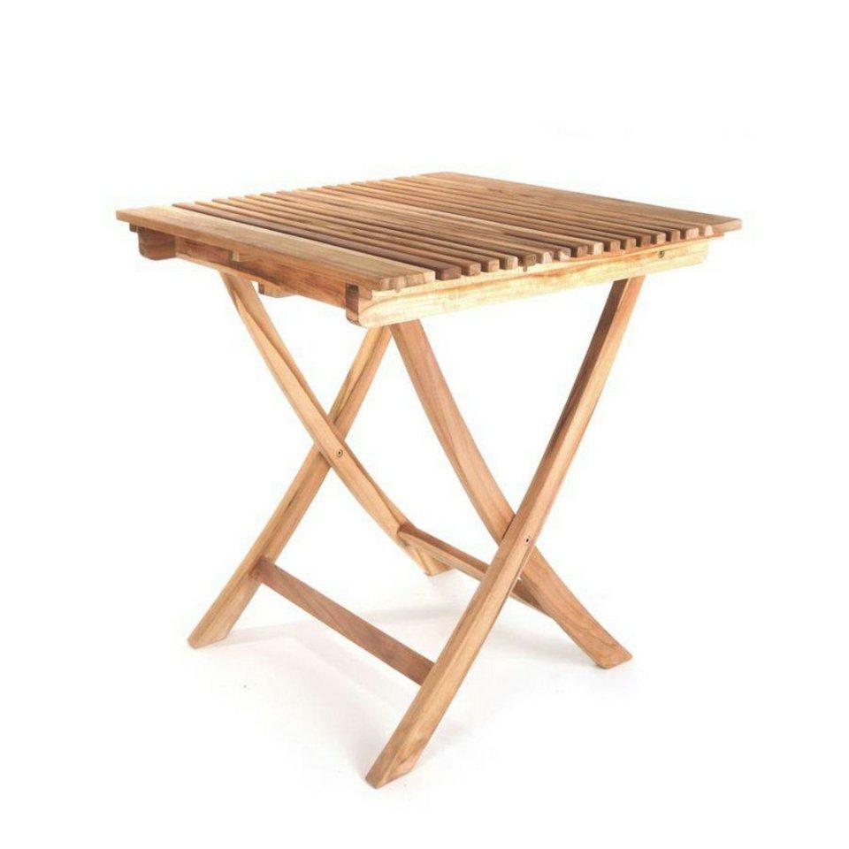 Ploss Gartentisch Milford Eco Teak Tisch 70 X 70 Cm Quadratisch Klappbar Online Kaufen Otto