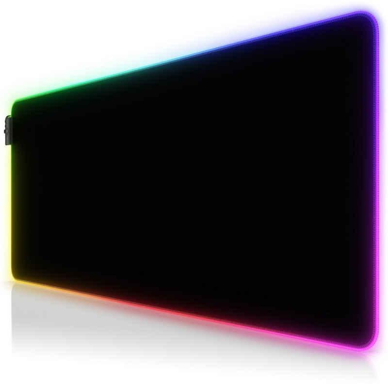 Titanwolf Gaming Mauspad, RGB Gaming Mauspad XL 900 x 400 mm Mousepad - verbessert Präzision & Geschwindigkeit