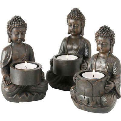"""BOLTZE Teelichthalter »6er-Set Teelichthalter """"Buddha"""" 9 x 9 x 14 cm«"""