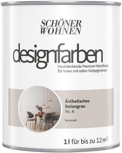 SCHÖNER WOHNEN-Kollektion Wand- und Deckenfarbe »Designfarben«, hochdeckend, Ästhetisches Betongrau, matt, 1 l