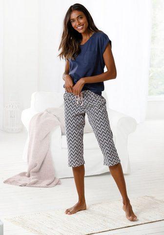 Vivance Dreams Capri-Pyjama su gemusterter Schlafhose...