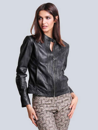 Alba Moda Lederjacke aus weichem Lammneder