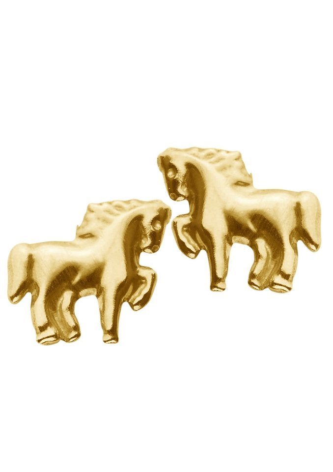 firetti Ohrschmuck: Paar Ohrstecker »Pferd« in Gold 333