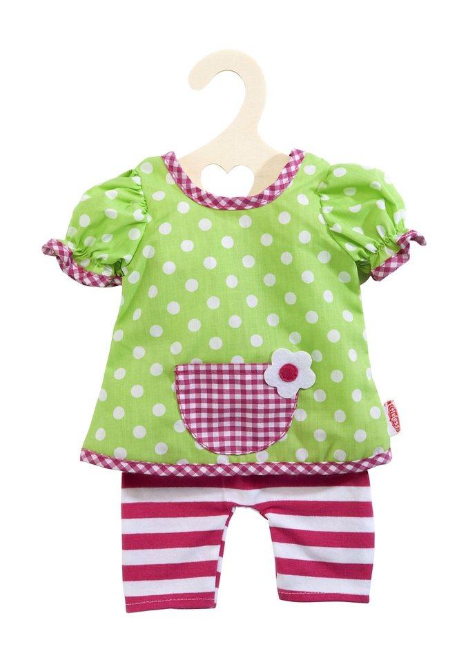 Heless® Puppenkleidung Größe 28-35 cm o. 35-45 cm »Puppenkleid mit Leggings« in grün