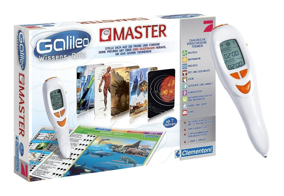 Galileo Wissens-Quiz Master, Clementoni in weiß