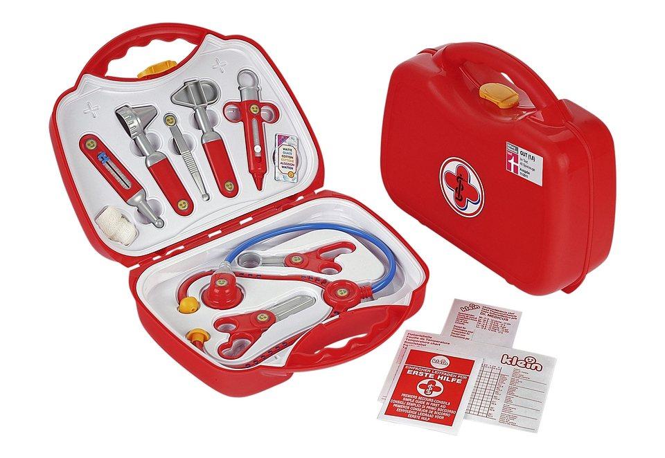 Klein Kinder Arztkoffer in rot