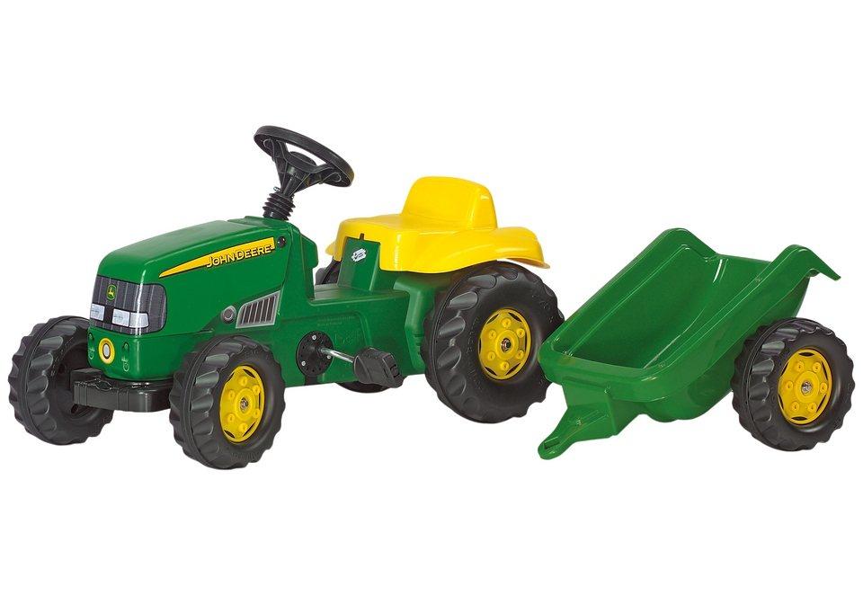rolly toys® Trettraktor mit Anhänger »rollyKid John Deere« in grün-gelb