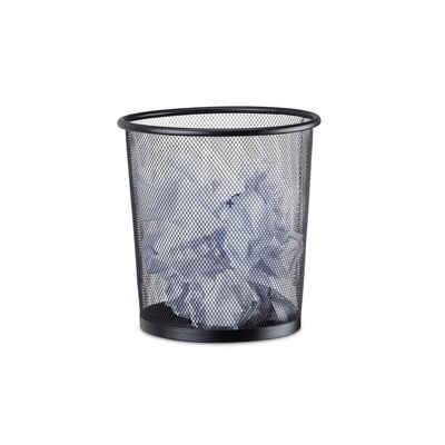 relaxdays Papierkorb »Papierkorb rund Metallgeflecht«