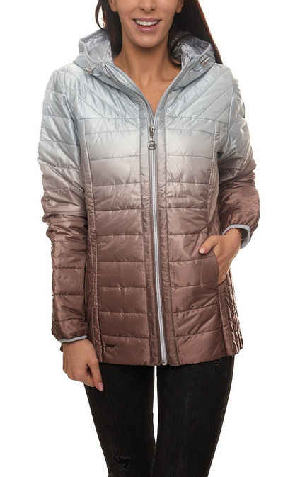 KangaROOS Steppjacke »KangaROOS Stepp-Jacke modische Damen Outdoor-Jacke mit Dip-dye-Farbverlauf Freizeit-Jacke Silber/Kupfer«