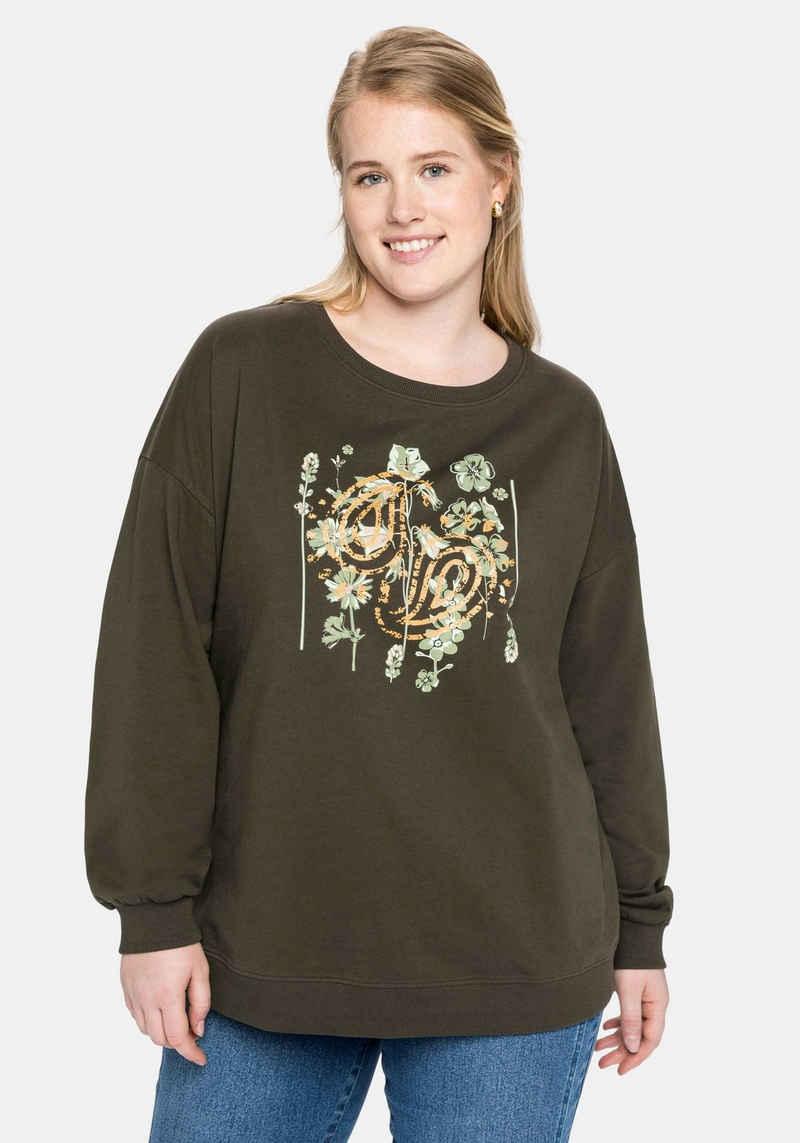 Sheego Sweatshirt mit 3D-Druck