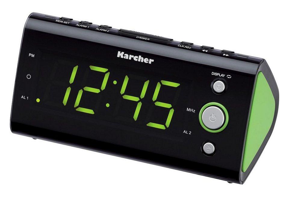 Karcher UR 1040-G schwarz/grün Uhrenradio in grün