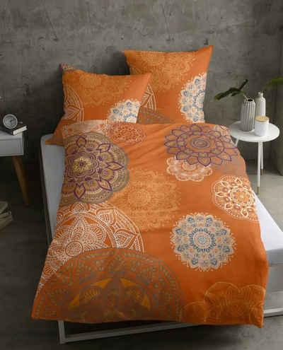 Bettwäsche »Biber Bettwäsche EIVISSA«, sister s., kuschelig warm zum Wohlfühlen, Bettwäsche-Set mit Mandalas Blumen