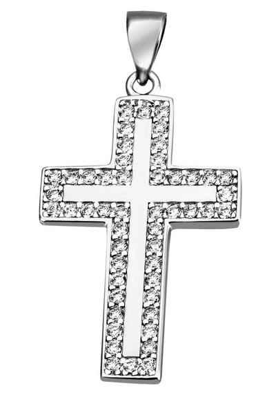 Firetti Kreuzanhänger »Kreuz«, mit Zirkonia (synth)