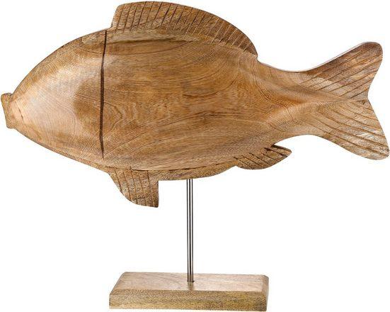 GILDE Dekofigur »Deko Fisch Flip« (1 Stück), Dekoobjekt, Tierfigur, Höhe 39 cm, aus Holz, Wohnzimmer