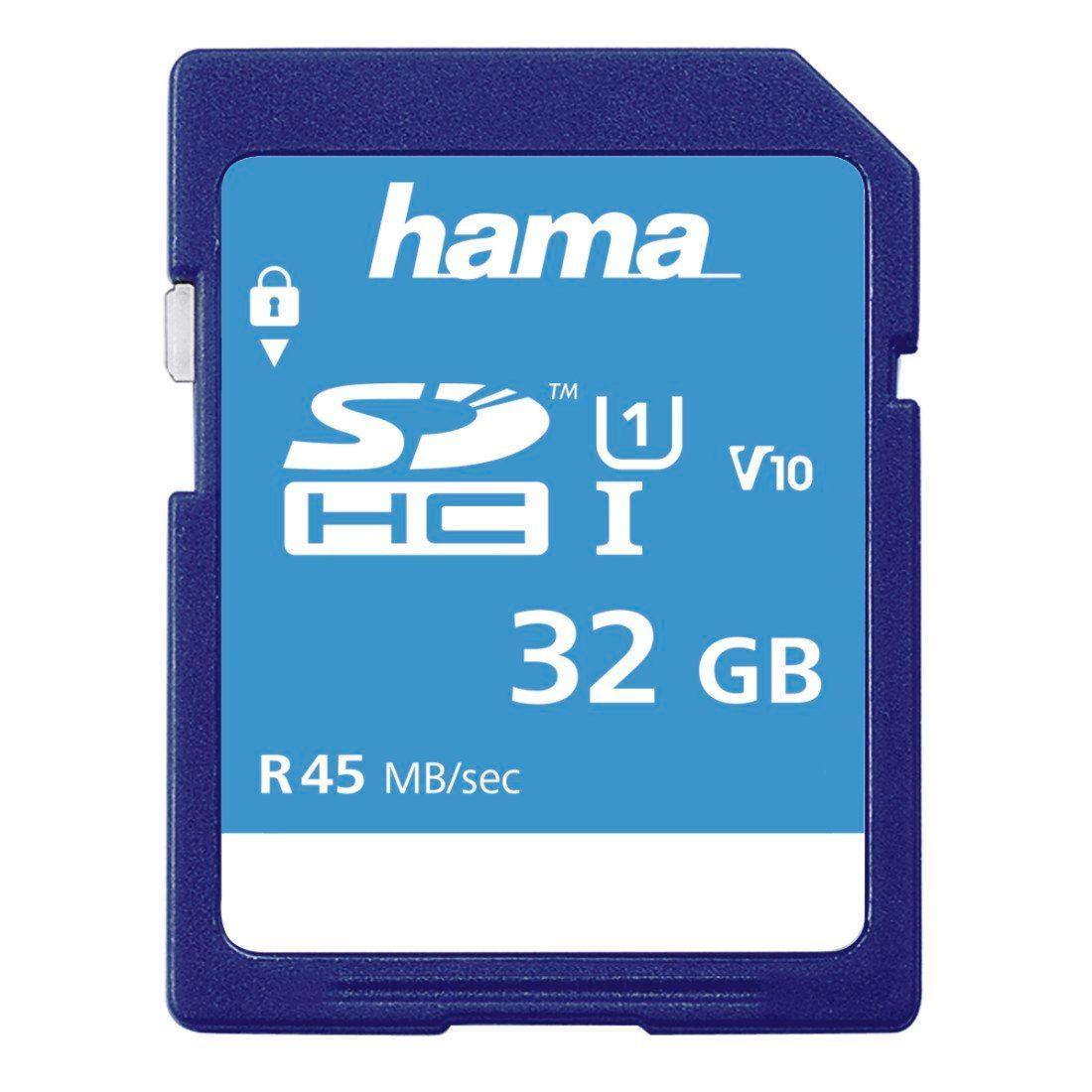 Hama Speicherkarte SDHC, 32GB, Class 10 UHS-I »geeignet für HD- und 3D-Videos«
