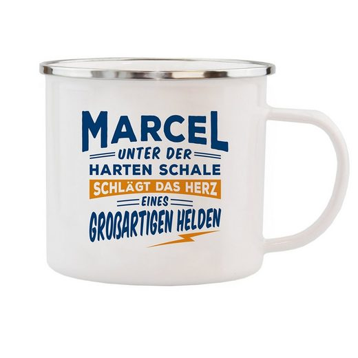 HTI-Living Becher »Echter Kerl Emaille Becher Marcel«, Emaille