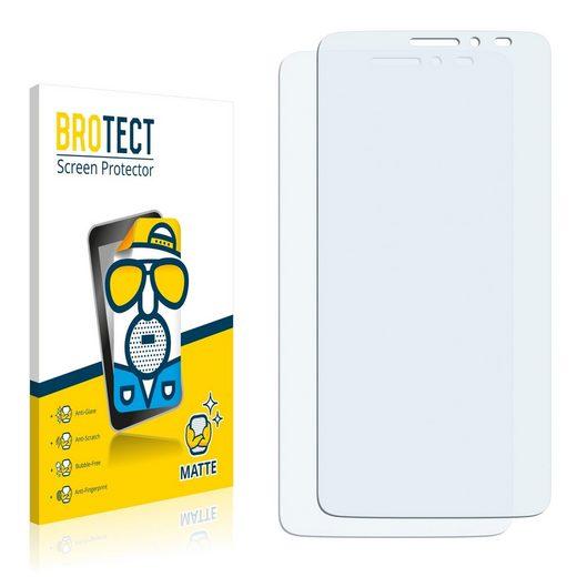 BROTECT Schutzfolie »für Alcatel One Touch Idol X+«, (2 Stück), Folie Schutzfolie matt entspiegelt