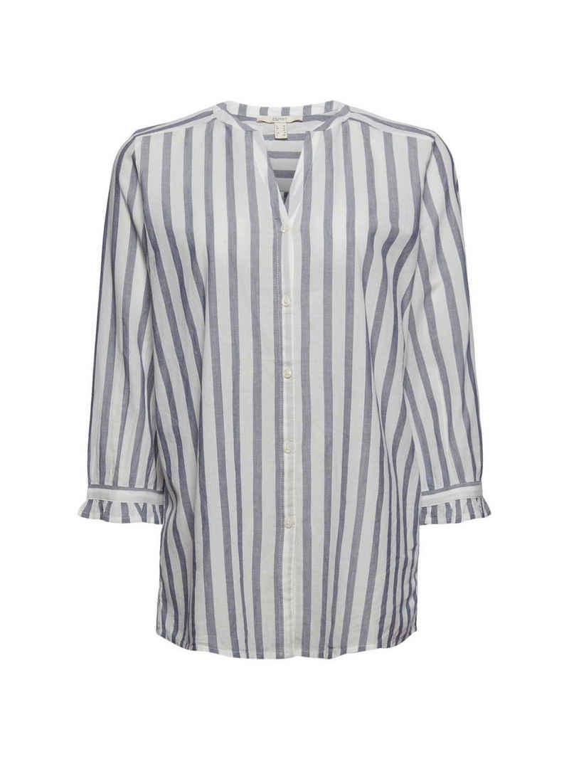 Esprit Hemdbluse »Leichte Streifen-Bluse, 100% Bio-Baumwolle«