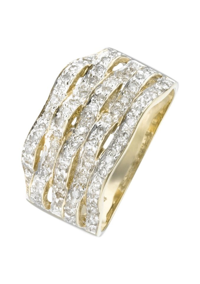 Vivance Jewels Ring mit Diamanten in goldfarben