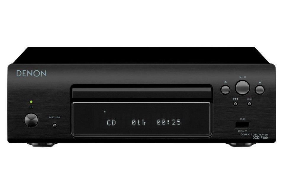 Denon DCDF109BKE2 CD-Player in schwarz