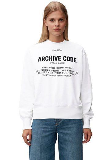 Marc O'Polo Sweater mit großem Letter-Print und Applikation vorne
