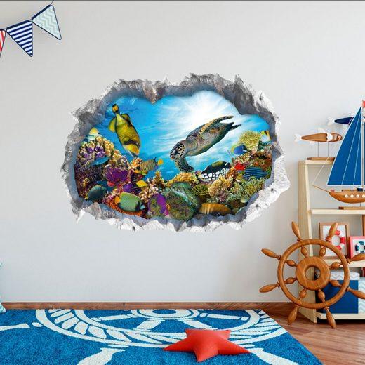 Wandtattoo 3D Meeresleben