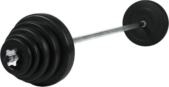 Christopeit Sport® Hantel-Set »Langhantel Gewichtsset 42 kg«, 42 kg, (Set, 13-tlg., mit Langhantelstange)