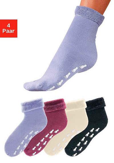 Go in ABS-Socken (4-Paar) mit Antirutschsohle und Vollfrottee