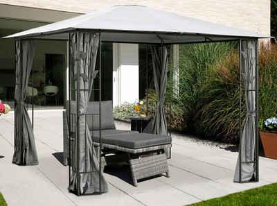KONIFERA Pavillon »Kreta«, mit 4 Seitenteilen, BxT: 300x300 cm, Stahlgestell
