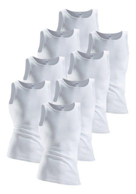 clipper - , Unterhemd (8 Stück) aus Fein- und Doppelripp