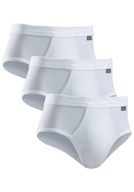 schiesser -  Feinripp-Sportslip (3 Stück) mit Eingriff schlichte Basic-Slips in Top-Markenqualit