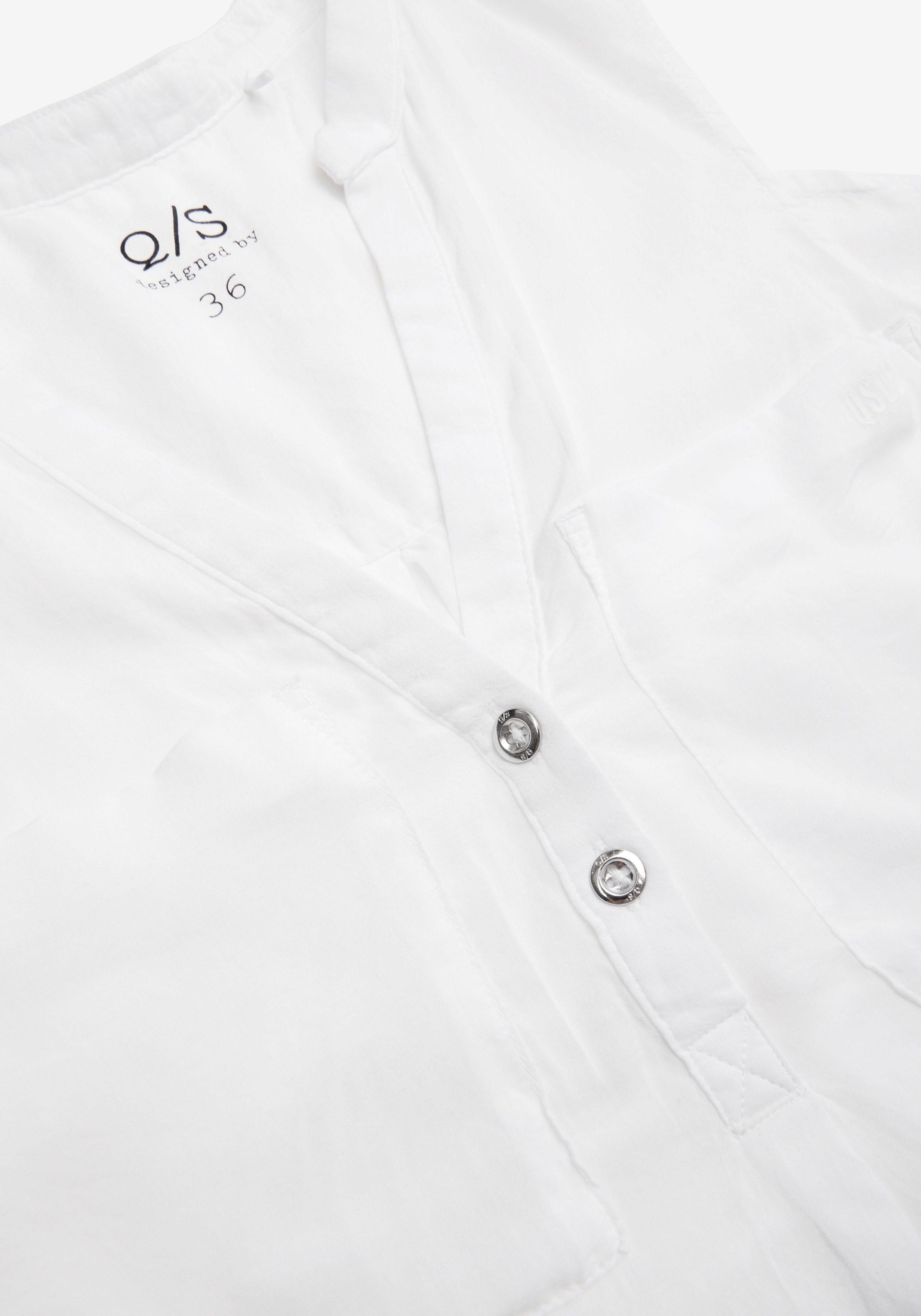 Q/S designed by Klassische Bluse mit Brust-Taschen vTD7cl