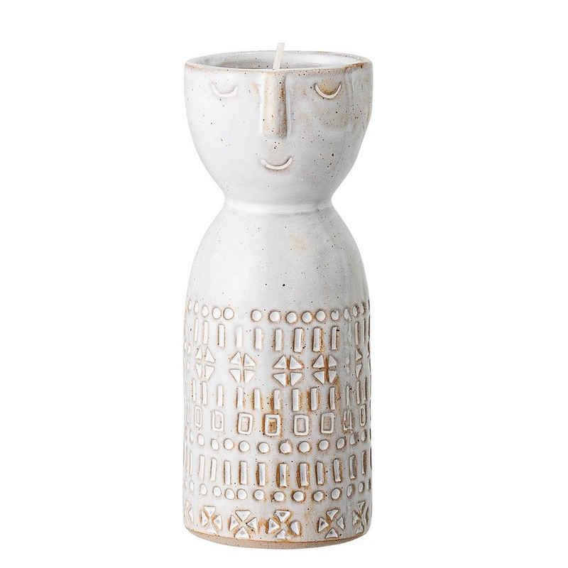 Bloomingville Dekovase »Bloomingville Vase Creme Weiß Rund mit Gesicht 6x14 cm«