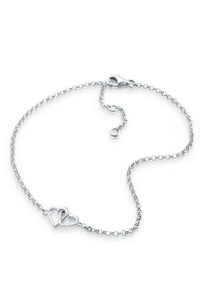 Elli Fußkette »Herz Liebe Verschlungen 925 Silber«