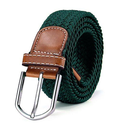 DonDon Stoffgürtel »Gürtel Stoffgürtel elastisch« geflochtener Stretchgürtel, für Damen und Herren, bis 120 cm